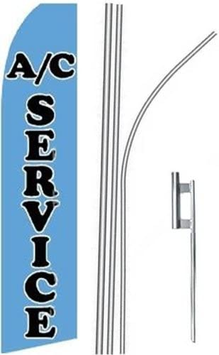 3 three AC SERVICE bl//blk 15 Swooper #4 Feather Flags KIT