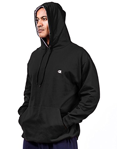 - Champion Men's Big & Tall Fleece Pullover Hoodie Black 5X Big