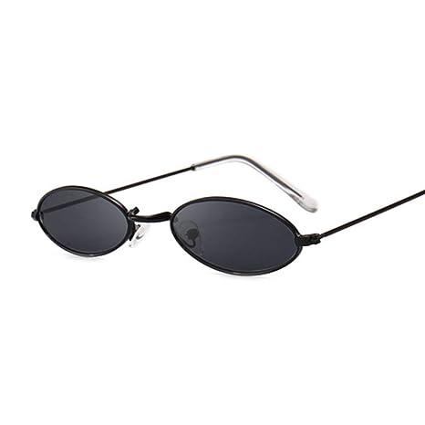 Yangjing-hl Gafas de Sol ovales pequeñas y Retro para Mujer ...