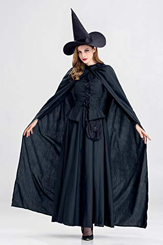 JCH Halloween Costume Night Wandering Soul Female Ghost Dress Witch Dress Nightclub Rave Party Costume for Women (Size : XL) ()