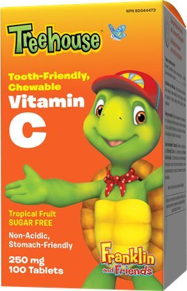 Treehouse Kids Supplements Tooth Friendly Vitamin C Tablets, Tropical Fruit Flavor, 250mg, 100 Count Review