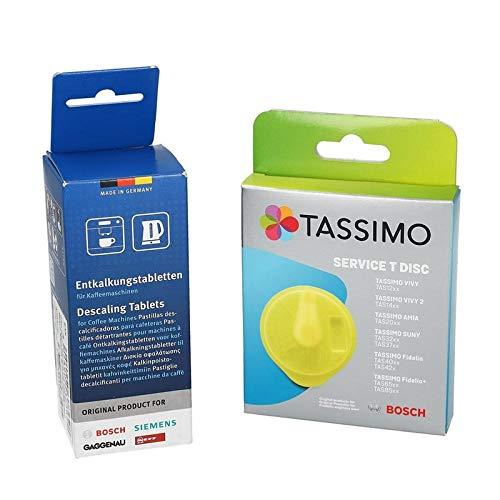 Juego económico Original de Bosch! Disco de Limpieza Tassimo 621101 Pestañas descalcificadoras 311555