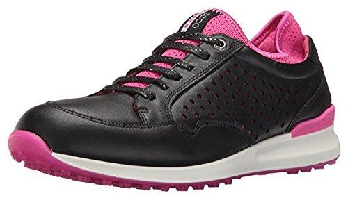 ECCO Women's Speed Hybrid Golf Shoe, Black/Raspberry, 37 EU/6-6.5 M US