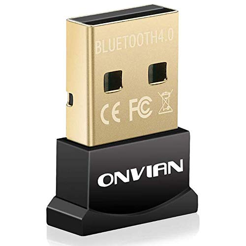 Onvian USB Bluetooth Adapter CSR 4.0 Dongle Receiver Transfer Wireless Adapter for PC Computer Laptop Supports Windows 10 8.1 8 7 Vista XP - Upgraded Version (Pc Usb Frequency Wireless Radio)