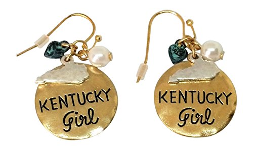 Loaded Lids State Girl Mix Charm Earrings (Kentucky/Goldtone)