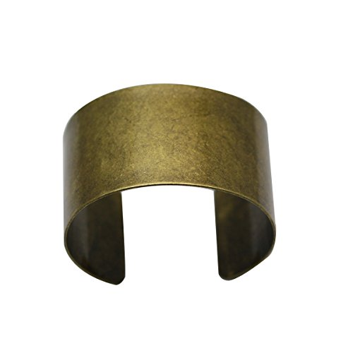 Handmake Bracelet Cuff Blank Adjustable Brass Cuff Bangle For Wonder Woman (Bracelet Blanks Gold)