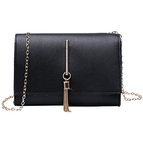 (Pengy Shoulders Bag Tassel Package for Women Letter Purse Bag Mobile Phone Messenger)