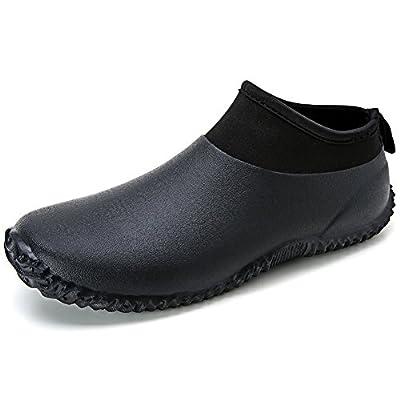 Hellozebra Men's Neoprene Rain and Gardening Shoes