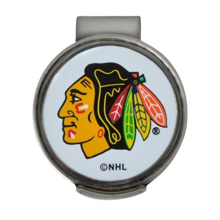 NHL Chicago Blackhawks Clamshell Hat Clip with 2