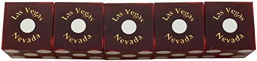 Casino Dice Binions Stick of 5 Used Casino Dice Las Vegas RED