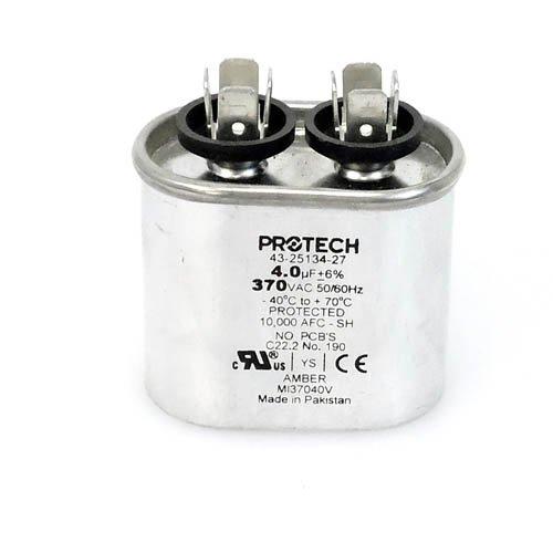 43-25134-27 -Rheem OEM Oval Replacement Run Capacitor 4 UF/MFD 370 Volt (Rheem 27)