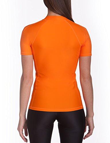 iQ-Company UV 300 Shirt Watersport - Camiseta con manga corta de natación para mujer naranja