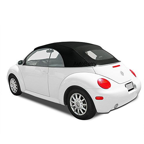 Volkswagen Beetle Haartz Stayfast Cloth Convertible Top & Heated Glass Window for VW For Power Tops 2003-2009