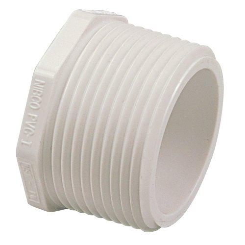 NIBCO 450 Series PVC Pipe Fitting, Plug, Schedule 40, 3/4
