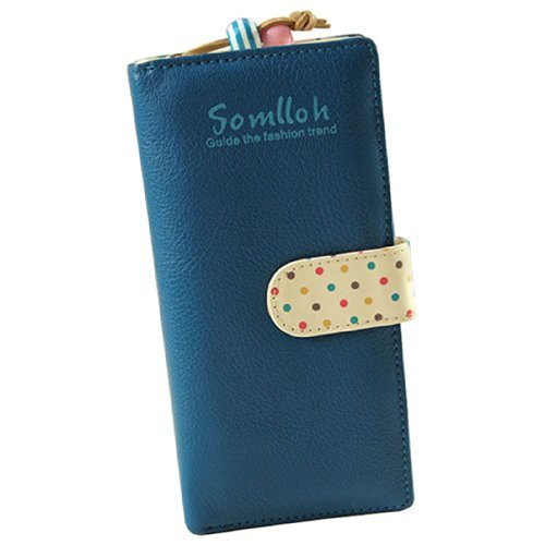 Clutch Wallet Zip Bag Card Holder (Blue) - 1