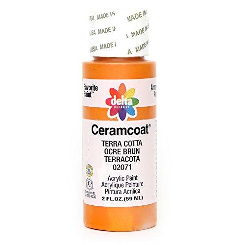 Paint Terra Cotta - Delta Creative Ceramcoat Acrylic Paint in Assorted Colors (2 oz), 2071, Terra Cotta