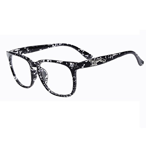 [D.King Vintage Rectangle Eyeglasses Frame Clear Lens Prescription Eyeglasses Point Black] (Super Nerdy Costume)