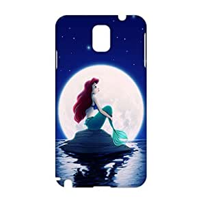 Angl 3D Case Cover Cartoon Cute Mermaid Phone Case for Samsung Galaxy Note3