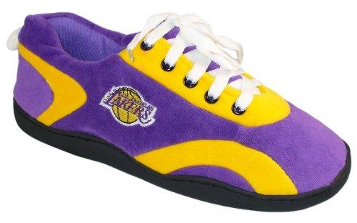 Pieds Heureux Et Pieds Confortables Hommes Et Femmes Sous Licence Officielle Nba Tout Autour Des Pantoufles Los Angeles Lakers