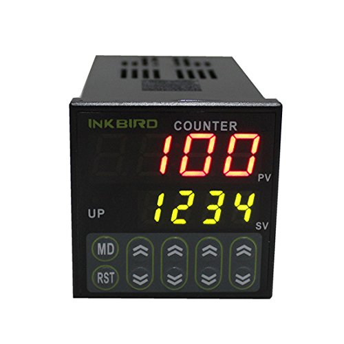 Inkbird 4 Digital Preset Scale Counter Controller Tact Switch SSR Output IDC-S1RH 100-240V 50 - 60Hz 2 Preset Counter
