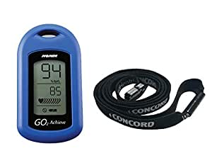 Nonin GO2 Achieve Fingertip Pulse Oximeter Blue with Concord Lanyard Combo
