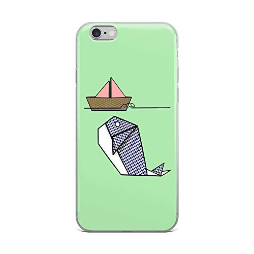 (iPhone 6 Plus/6s Plus Case Anti-Scratch Creature Animal Transparent Cases Cover Origami Patterned Whale and Boat Animals Fauna Crystal Clear)