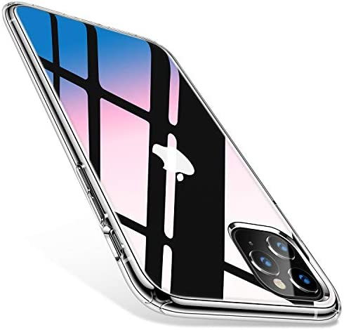 TORRAS Diamonds Clear Compatible for iPhone 11 Pro Max Case [Never Yellow] [4k Super Clear] Slim Fit Shockproof Hard Plastic Back & Flexible Bumper Designed for iPhone 11 Pro Max Cases, Transparent