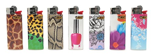 Bic Mini Fashionista Series Lighters Lot of 10 (7 Different Designs) by BIC