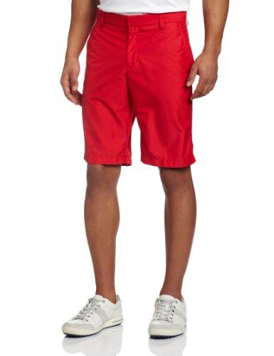 J.Lindeberg Men's True Micro Twill Golf Short, Red, 30x32
