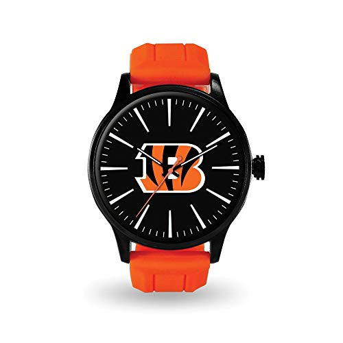 Q Gold Gifts Watches NFL Cincinnati Bengals Cheer Watch by Rico - Cufflinks Bengals