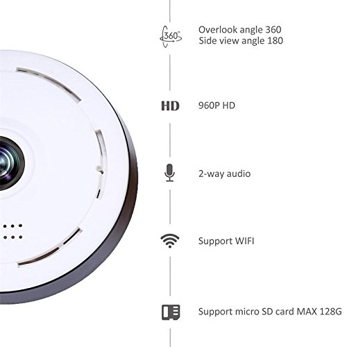 Woaser Home Camera, 720P Wireless Security Surveillance Camera for Baby /Elder/ Pet/Nanny Monitor with Night Vision (white)