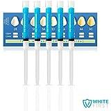 WHITE FIRST Pack de 5 seringues de gel reminéralisant 3 mL professionnel Tooth Whitening Pro- Blanchiment des dents, Permet de renforcer l'émail des dents, seringues de 3 mL, soins dentaires sans peroxyde - Sans Sodium Perborate 0%