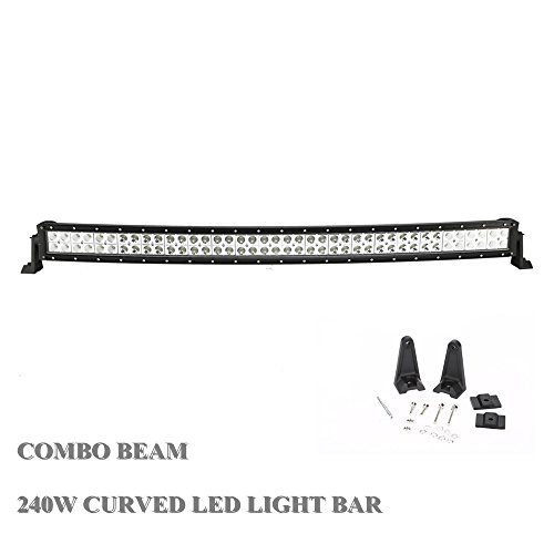 Topcarlight 42inch 240w Curved LED Work Light BAR Flood Spot Combo Offroad Lamp Suv Ute Atv