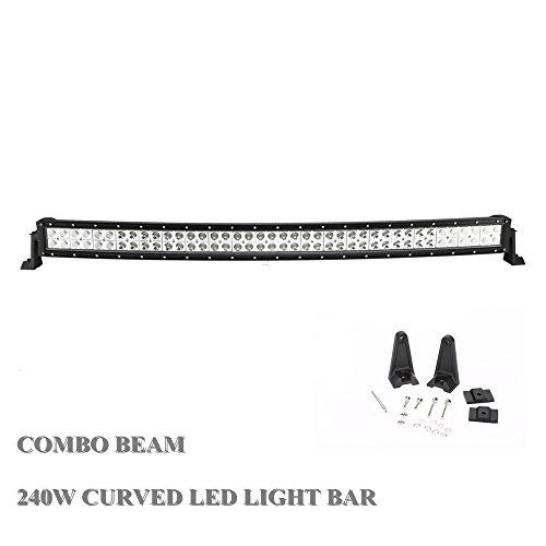 Topcarlight 42inch 240w Curved LED Work Light BAR Flood Spot Combo Offroad Lamp Suv Ute Atv