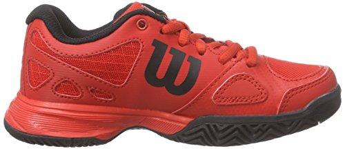 Wilson Rush Pro JR, Unisex-Kinder Tennisschuhe, Mehrfarbig Red Red Black, 37 2/3 EU (4.5 Kinder UK)