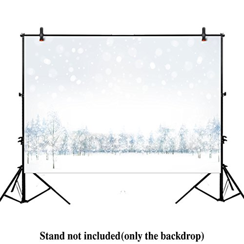 Allenjoy 7x5ft christmas xmas new years photography backdrop background white winter scene forest wonderland snowflake landscape holiday party for festival Newborn kids babys photo (Winter Scene Backdrops)
