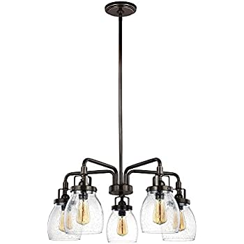 Sea gull lighting 3114505 782 belton five light chandelier with sea gull lighting 3114505 782 belton five light chandelier with clear seeded glass shades aloadofball Image collections