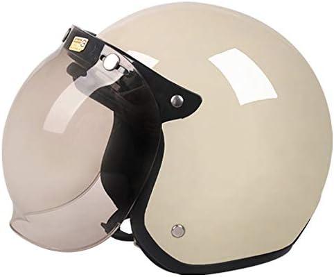 単色電動オートバイハーレーレトロヘルメット男性バッテリー車四季ユニバーサルレディースヘルメット