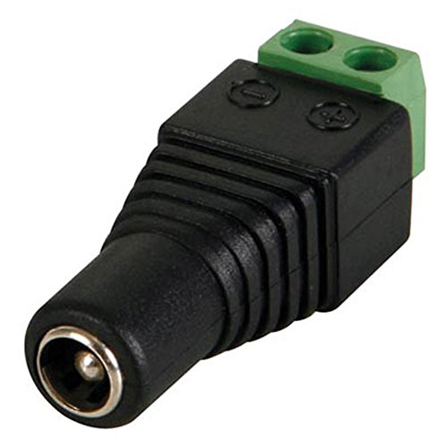 Velleman CD017-1 DC Jack to Screw Terminal, 2.5 mm x 5.5 mm Size (Pack of (Barrel Terminals)