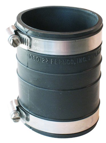 Rubber Coupling Flexible (Fernco P1060-22 2-Inch by 2-Inch Rubber Flexible Socket Coupling Repair Fitting)