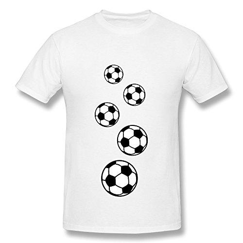 SNOWANG Men's Soccer T-Shirt L