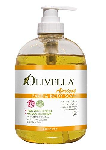 OLIVELLA Liquid Soap, Apricot, 16.9 Fluid Ounce