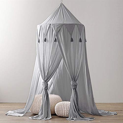 sunnymi Baby Dome Hanging Children's Tent for Single, Twin to Queen Size, Bed Canopy Curtains, Mosquito Netting with Opening, Easy Installation, Carry Bag (240 x 50 cm, M)