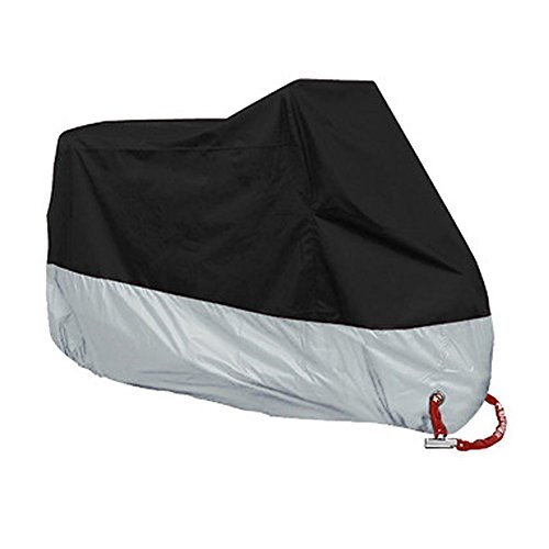 Amazon.com : Motorcycle Cover, JUNLRAN Waterproof Outdoor UV Protector Covering Motorbike Protective Breathable Cover with Aluminum Lock Holes & Buckle ...