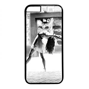"Beautiful Ballet Dancer Theme Case for iPhone 6(4.7"") PC Material Black"