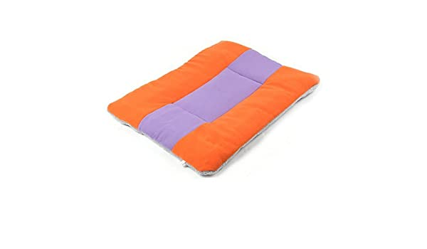 Amazon.com : eDealMax franela Forma de rectángulo Los Mascotas cama el dormir amortiguador de la Manta Naranja púrpura : Pet Supplies