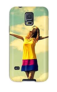 Galaxy S5 Case Cover With Shock Absorbent Protective WLrEWdS8001CIkvu Case