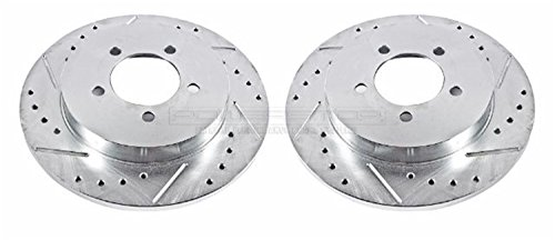 Power Stop AR8587XPR Rear Evolution Drilled & Slotted Rotor (Sport Trac Power Slot Rotors)