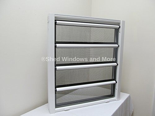 24'' x 27'' Aluminum Jalousie Style Window 4 panes by Shed Windows and More