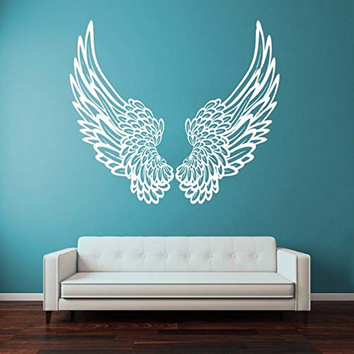 Pbldb 40X60Cm DIY Vinyl Wall Sticker Wall Decal Big Wings Angel God Guardian Bird Kids Children Home Decor Decoration Wall Art ()